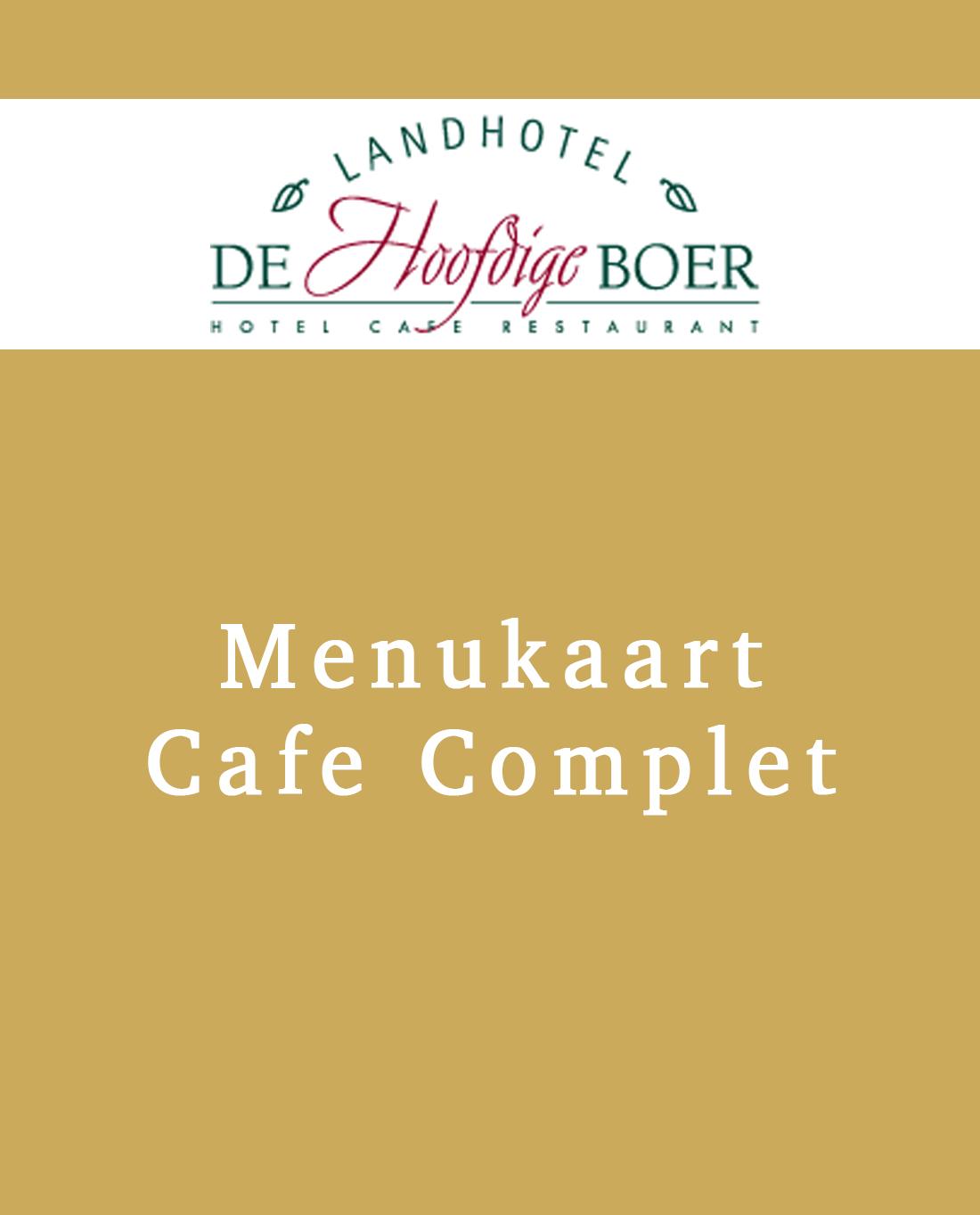 Cafe Complet menu